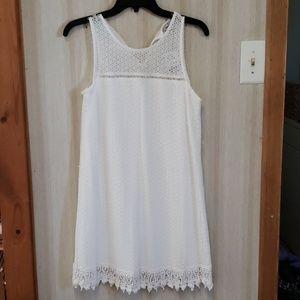 Layer white lace dress sz Lg